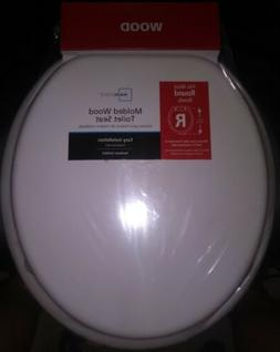 Mainstays 16-1/2in Round Molded Wood Toilet Seat White