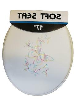 Butterfly Soft Padded Cushion Toilet Seat Round Standard Siz