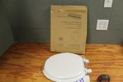 Round Front Toilet Seat with Cover, White. Fits All Manufact