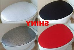 Shiny Fabric Lid Cover for toilet SEAT Models Round & Elonga